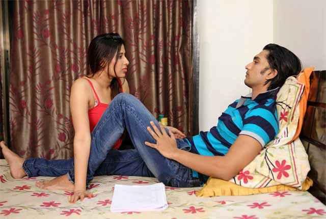 School Teacher Ajay Bafna Gayatri Singh In Romance Mood Stills
