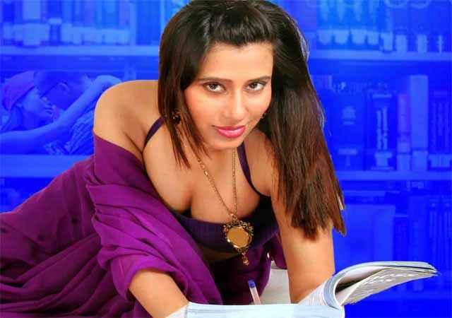 School Teacher Gayatri Singh Sexy Boobs Cleavage Stills