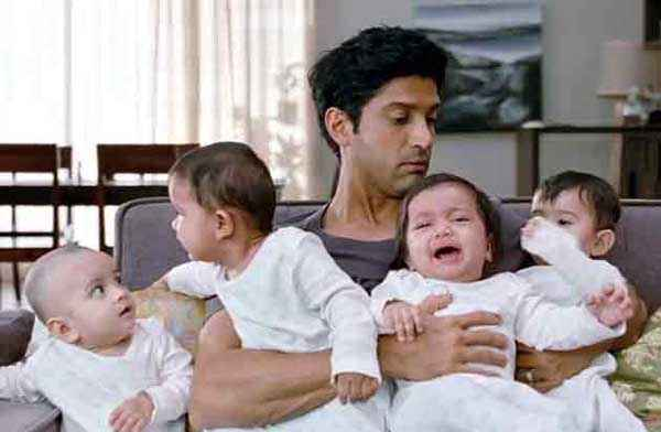 Shaadi Ke Side Effects Farhan Akhtar with Kids Stills