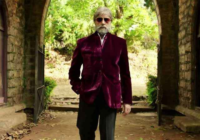 Shamitabh Amitabh Bachchan In Purpal Jacket Stills