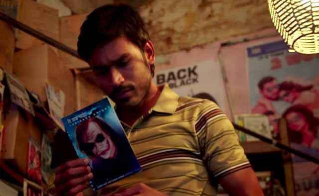 Shamitabh Dhanush Reading Book Stills