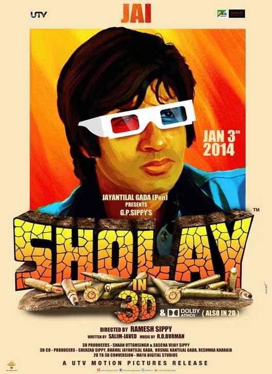 Sholay 3D Amitabh Bachchan Poster