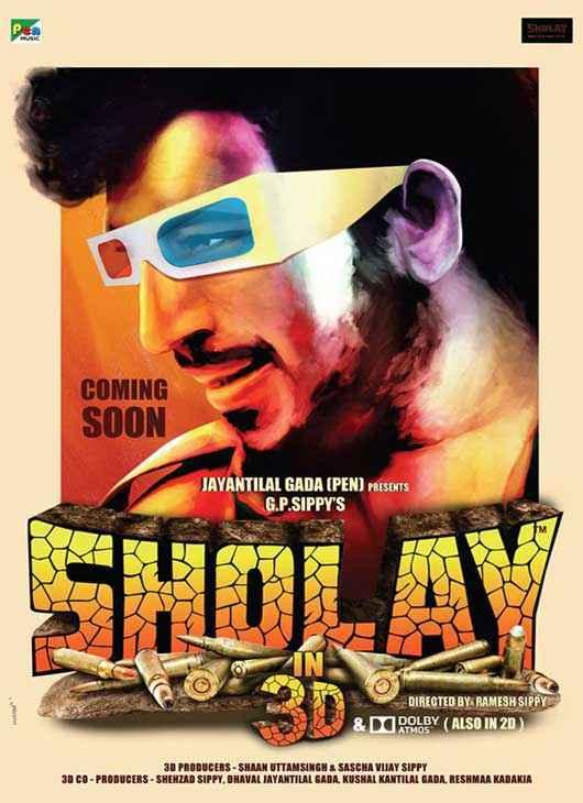 Sholay 3D Amjad Khan Poster