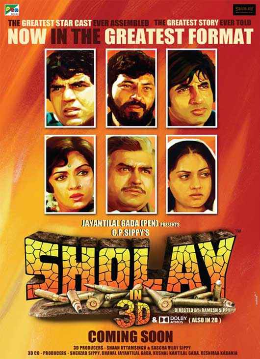Sholay 3D First Look Poster