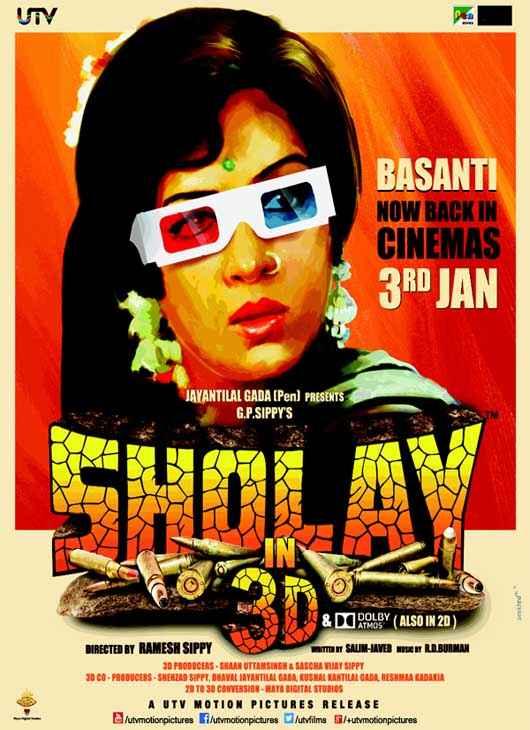 Sholay 3D Hema Malini Poster