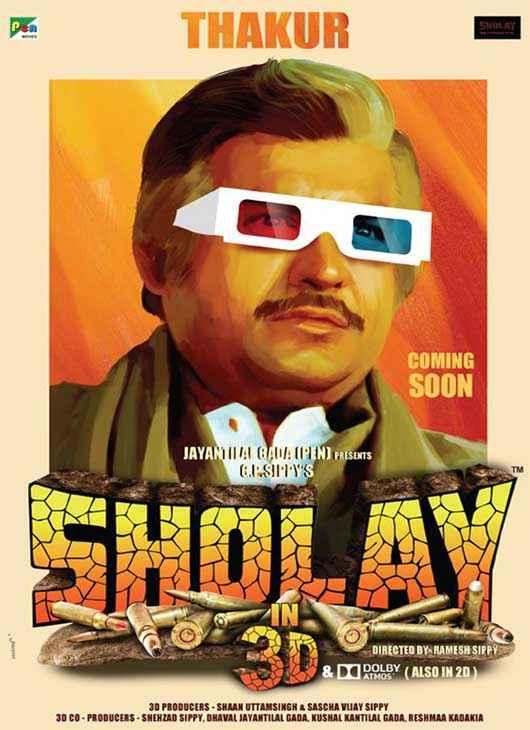 Sholay 3D Sanjeev Kumar Poster