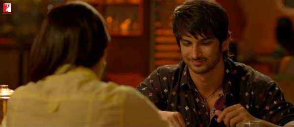 Shuddh Desi Romance Sushant Singh Parineeti Chopra In Dinner Scene Stills