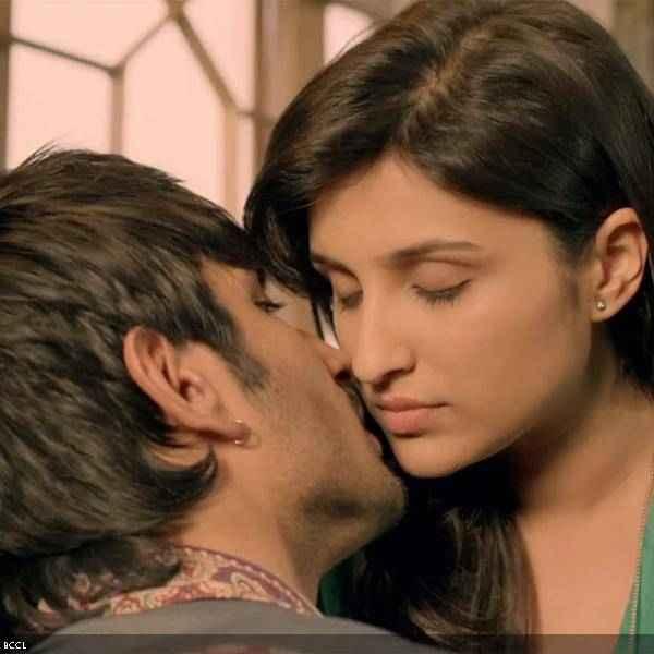 Shuddh Desi Romance Sushant Singh Rajput Parineeti Chopra Kissing Scene Stills