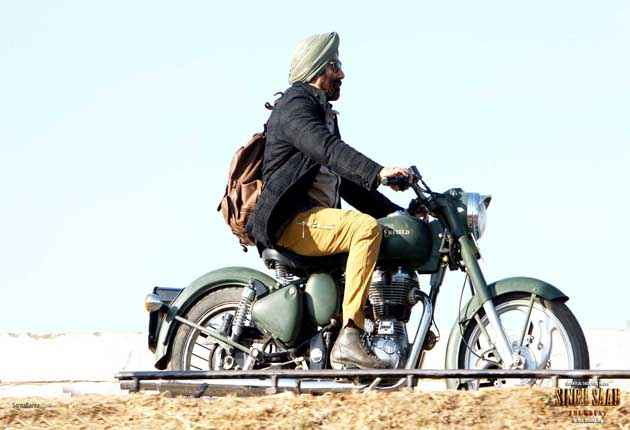 Singh Saab The Great Sunny Deol on Bike Wallpaper Stills