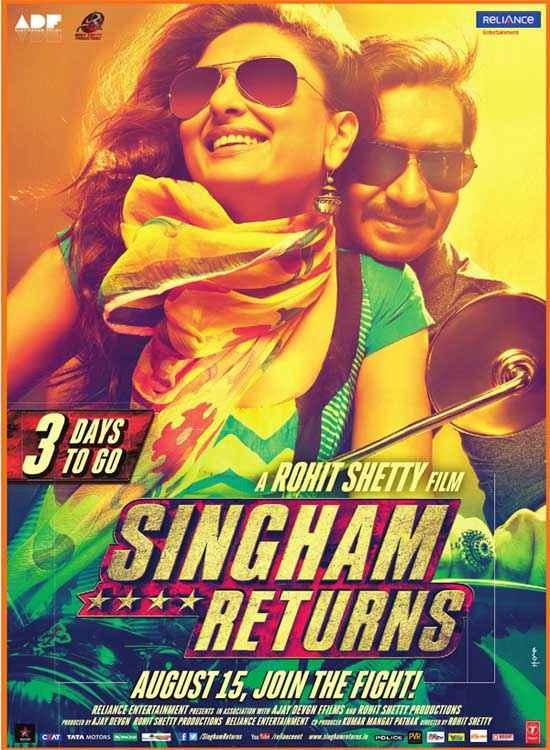 Singham Returns Kareena Kapoor Ajay Devgn Poster