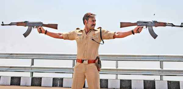Singham Returns Ajay Devgn Fighting With Double Gun Stills