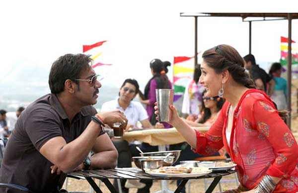 Singham Returns Ajay Devgn Kareena Kapoor Dait Scene Stills