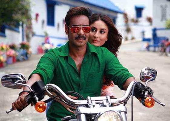 Singham Returns Ajay Devgn Kareena Kapoor On Bike Stills