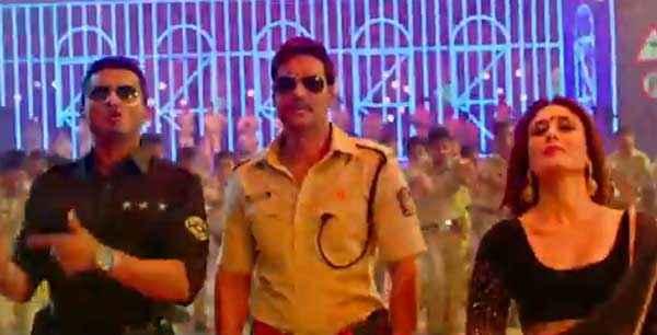 Singham Returns Ajay Devgn Kareena Kapoor Yo Yo Honey Singh Aata Majhi Satakli Song Stills