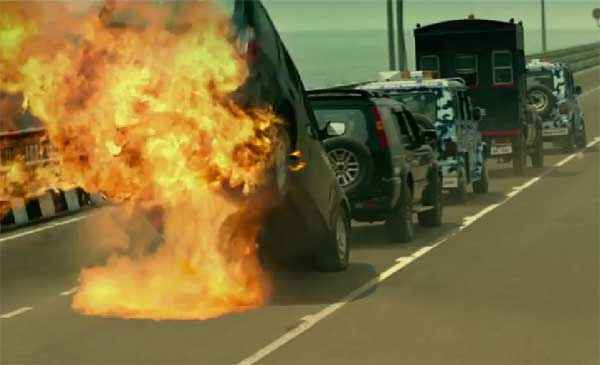 Singham Returns Car Stunts Stills