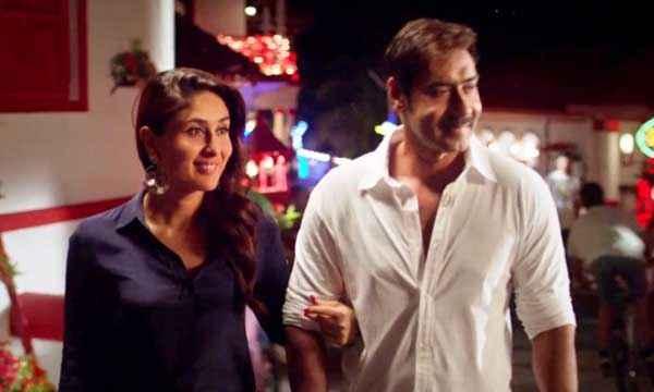Singham Returns Kareena Kapoor In Blue Ajay Devgn In White Shirt Stills