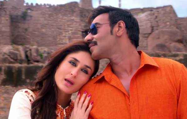 Singham Returns Kareena Kapoor In White Ajay Devgn In Red Shirt Stills