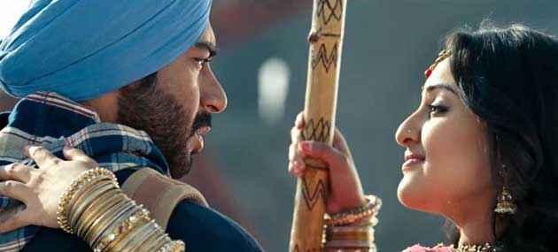 Son Of Sardaar Ajay Devgan Sonakshi Sinha In Romantic Scene Stills