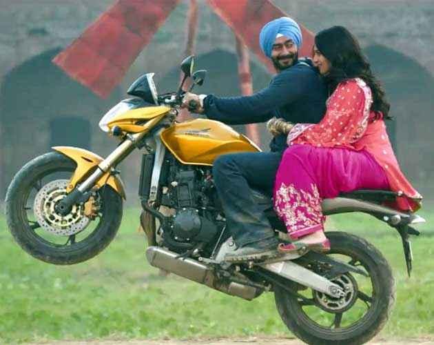 Son Of Sardar Ajay Devgan Sonakshi Sinha On Bike Scene Stills