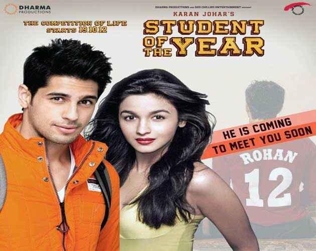 Student of the Year Siddharth Malhotra And Alia Bhatt Poster