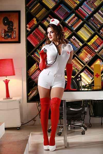 Super Girl From China Hot Sunny Leone In Nurse Dress Stills