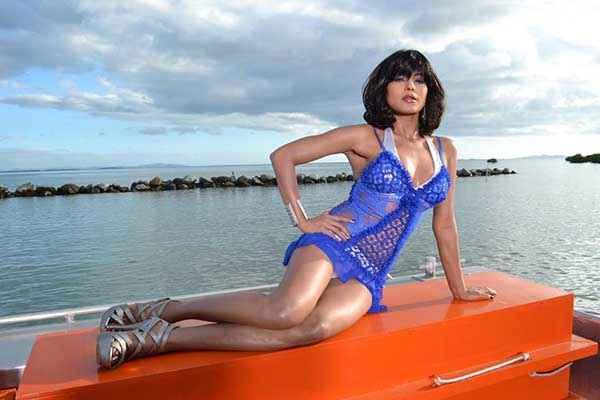 Super Model Veena Malik Blue Bikini Stills