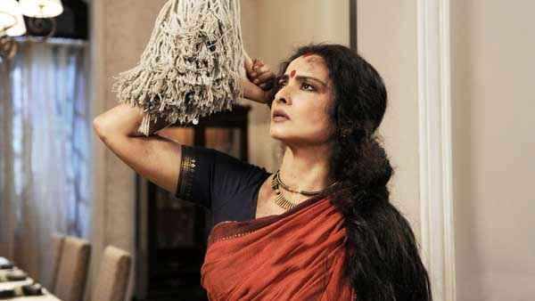 Super Nani Rekha Red Saree Stills
