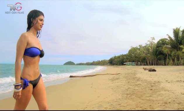 Table No. 21 Tena Desae In Bikini On Beach Stills