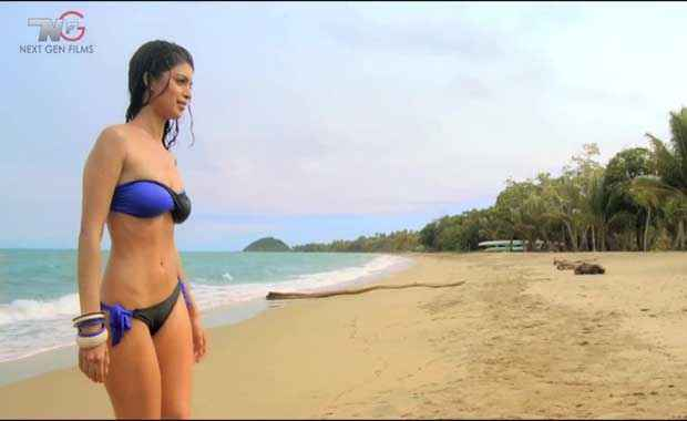 Table No. 21 Tena Desae In Blue And Black Bikini Stills
