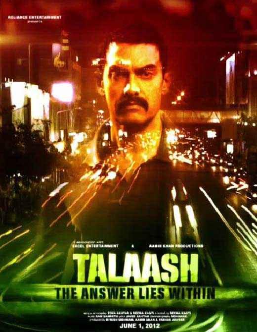 Talaash 2012 Aamir khan Poster