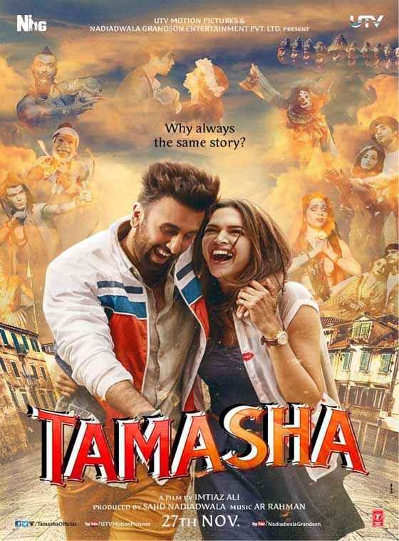 Tamasha 2015 Ranbir Kapoor Deepika Padukone Poster