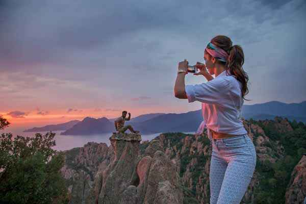 Tamasha 2015 Deepika Padukone Taking Sunsight Pics Stills