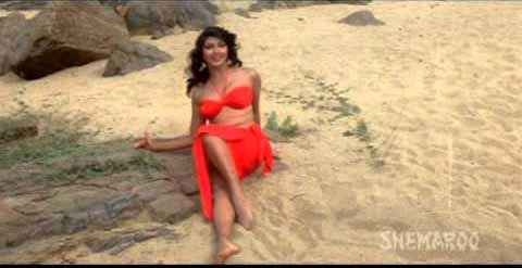 Tarzan Kimi Katkar Hot Red Dress Stills