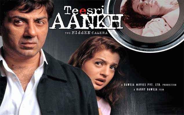 Teesri Aankh The Hidden Camera Sunny Deol Amisha Patel Poster