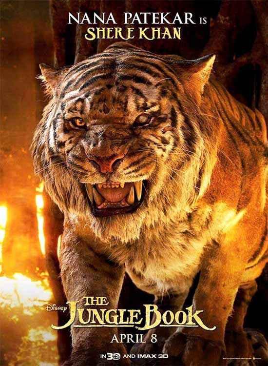 The Jungle Book Nana Patekar is Sher Khan Poster