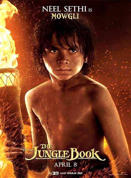 The Jungle Book Neel Sethi is Mowgli Poster