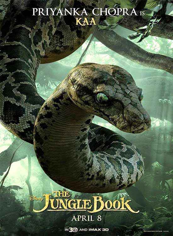 The Jungle Book Priyanka Chopra is Kaa Poster
