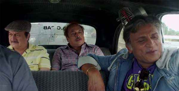 The Shaukeens Anupam Kher Annu Kapoor In Car with Team Stills