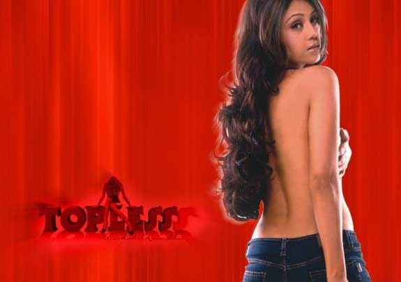 Topless Shweta Menon Sexy Poster