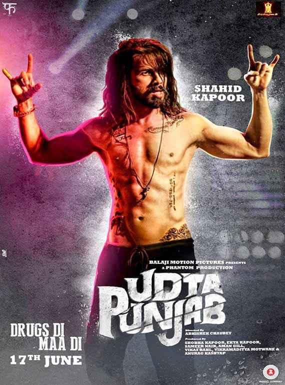 Udta Punjab Shahid Kapoor Poster