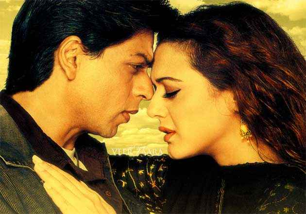 Veer Zaara Shahrukh with Preity Stills