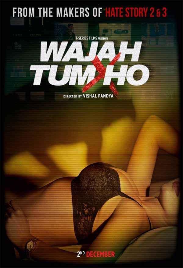 Wajah Tum Ho Sana Khan In Hot Bra  Poster