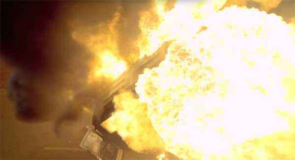 Wazir Car Burn Stunt Stills