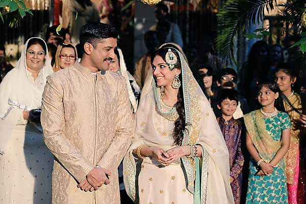 Wazir Farhan Akhtar Aditi Rao Hydari In Marriage Dress Stills