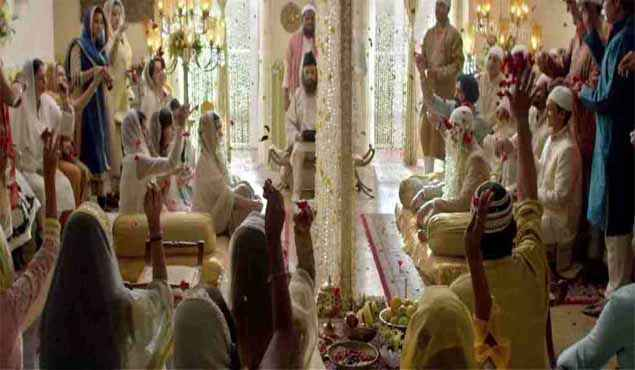 Wazir Farhan Akhtar Aditi Rao Hydari In Marriage Scene Stills