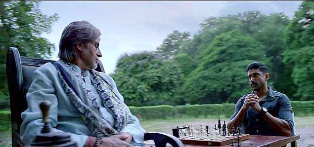 Wazir Farhan Akhtar Amitabh Bachchan With Chess Stills