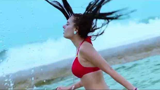 Yaariyan Evelyn Sharma In Red Bikini Stills