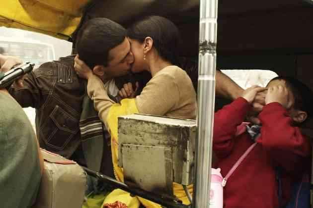Yeh Saali Zindagi Arunoday Singh Aditi Rao Hydari Kiss Scene In Auto Stills