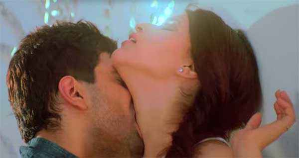 Zid Karanvir Sharma Kissing Barbie Handa Nack Stills