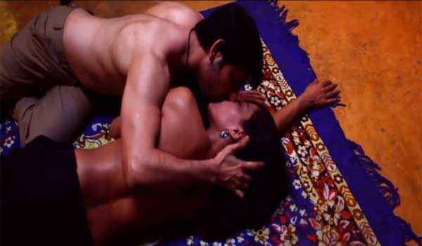 Zindagi 50 50 Veena Malik Rajan Verma Kiss Scene Stills
